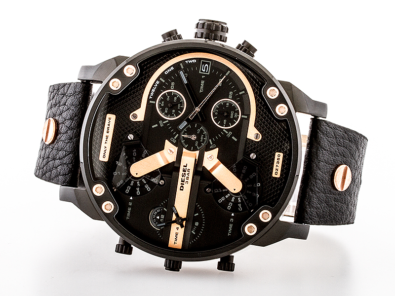diesel dz7350 mr daddy xxl herren uhr chronograph leder. Black Bedroom Furniture Sets. Home Design Ideas