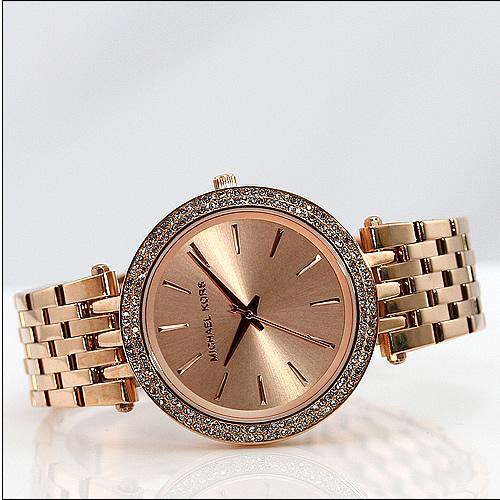 details about michael kors damen uhr armbanduhr ros gold edelstahl. Black Bedroom Furniture Sets. Home Design Ideas